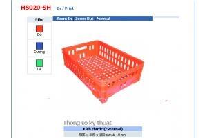 SÓNG NHỰA HỞ HS020 -SH